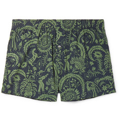 Desmond & Dempsey Printed Cotton Boxer Shorts