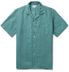 Hartford - Palm Camp-Collar Linen Shirt