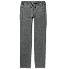 Hartford Charcoal Troy Slim-Fit Linen Drawstring Trousers