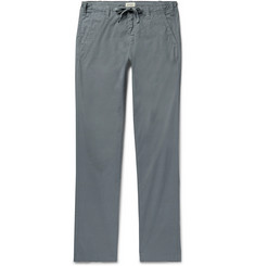 Hartford Dark-Grey Troy Slim-Fit Cotton Drawstring Trousers