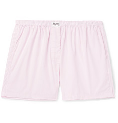 Les Girls Les Boys Striped Cotton Boxer Shorts