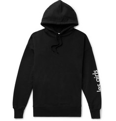 Les Girls Les Boys Oversized Logo-Print Loopback Cotton-Jersey Hoodie