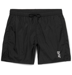 Les Girls Les Boys Mid-Length Logo-Embroidered Swim Shorts