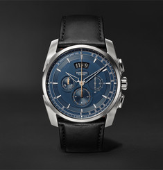 Parmigiani Fleurier - Tonda Metrographe 40mm Stainless Steel and Leather Watch