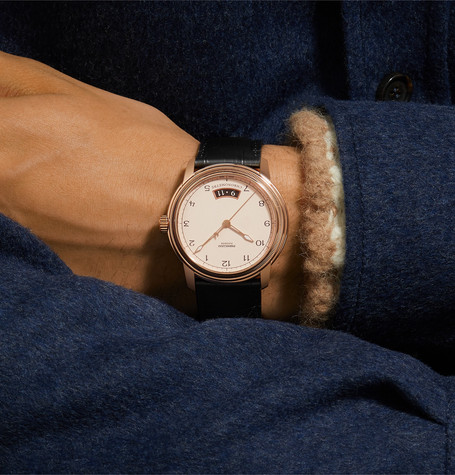 Parmigiani Fleurier Toric Automatic Chronometer 40.8Mm Rose Gold And Alligator Watch In White