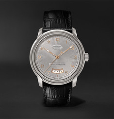 Parmigiani Fleurier - Toric Qualité Fleurier Automatic 40.8mm 18-Karat White Gold and Alligator Watch