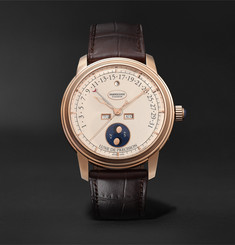Parmigiani Fleurier - Toric Quantième Perpetual Retrograde Calendar and Moon Phase Automatic 42.5mm 18-Karat Red Gold and Alligator Watch