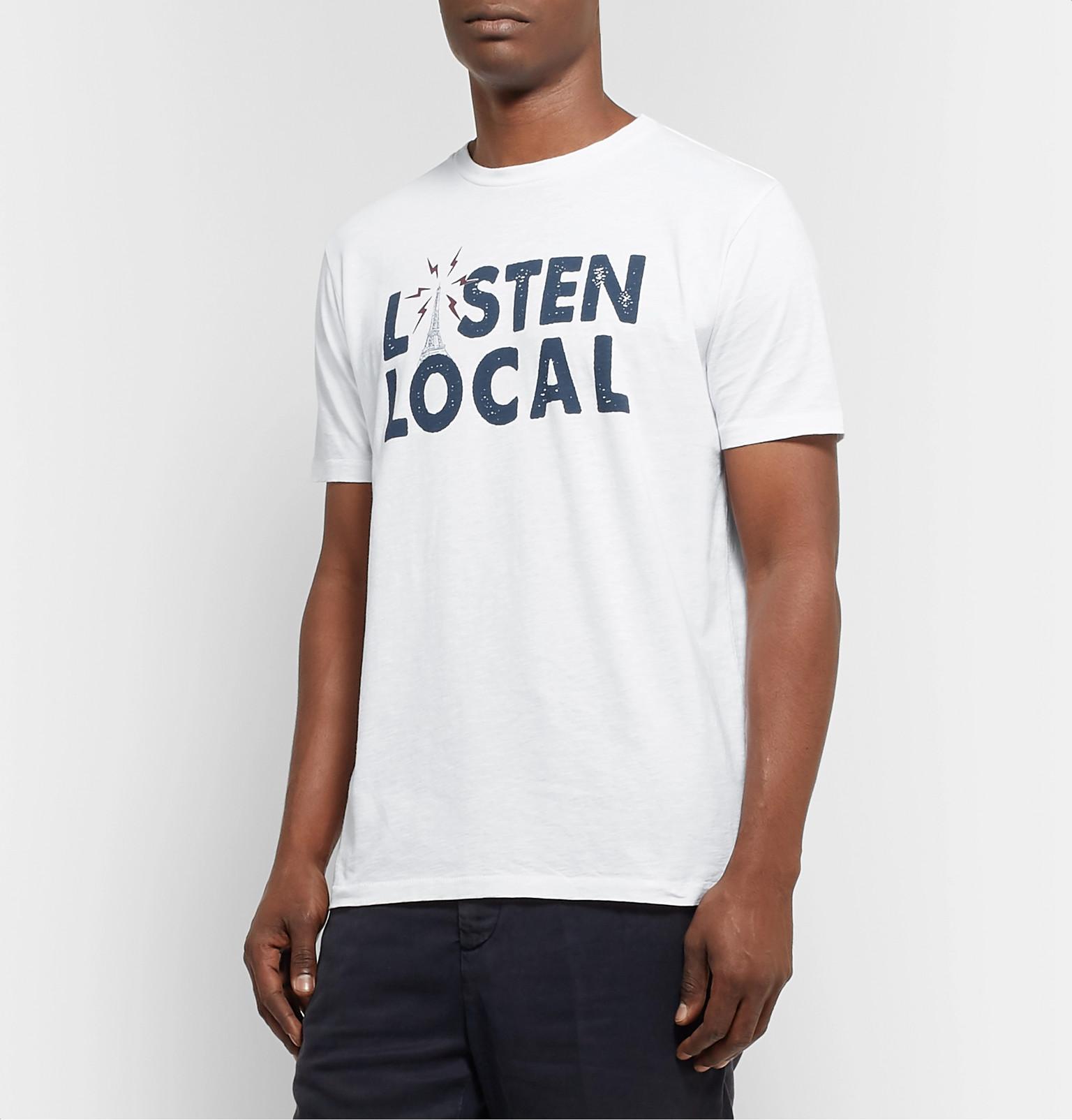 premium selection 581b8 e1f28 Hartford - Listen Local Printed Cotton-Jersey T-Shirt
