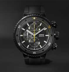 Oris ProDiver Dive Control Limited Edition Automatic Chronograph 51mm DLC-Coated Titanium and Rubber Watc