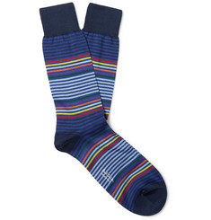 Paul Smith Striped Cotton-Blend Socks