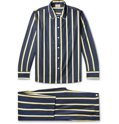 Sleepy Jones Henry Piped Striped Cotton-Poplin Pyjama Set