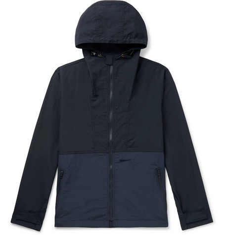 Mollusk Colour-Block Nylon Hooded Jacket