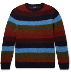 Howlin' Striped Brushed-Wool Sweater