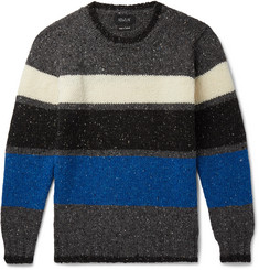 Howlin' Praise Yah Striped Donegal Wool Sweater
