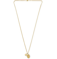 Miansai Mini Dove 14-Karat Gold Necklace