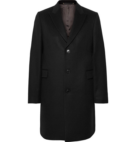 Paul Smith Wool And Cashmere-Blend Coat In Black