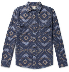 Faherty Cotton-Flannel Jacquard Shirt