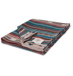 Faherty Adirondack Brushed Organic Cotton-Jacquard Blanket