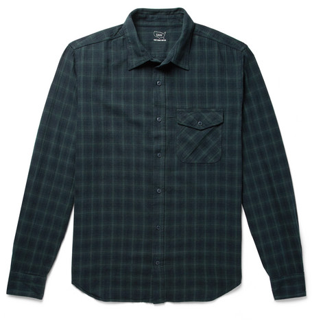 Save Khaki United Checked Cotton-Flannel Shirt