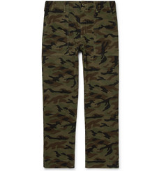 Save Khaki United Woodland Camouflage-Print Cotton Trousers