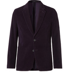 Paul Smith Aubergine Slim-Fit Cotton-Corduroy Suit Jacket