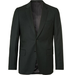 Paul Smith Dark-Green Slim-Fit Wool and Cashmere-Blend Flannel Suit Jacket