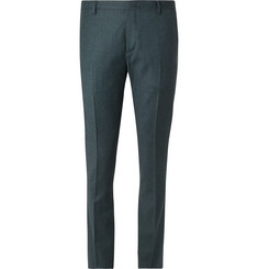 Paul Smith Dark-Green Slim-Fit Cotton-Flannel and Cashmere-Blend Suit Trousers