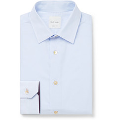 Paul Smith Slim-Fit Pinstriped Cotton-Poplin Shirt