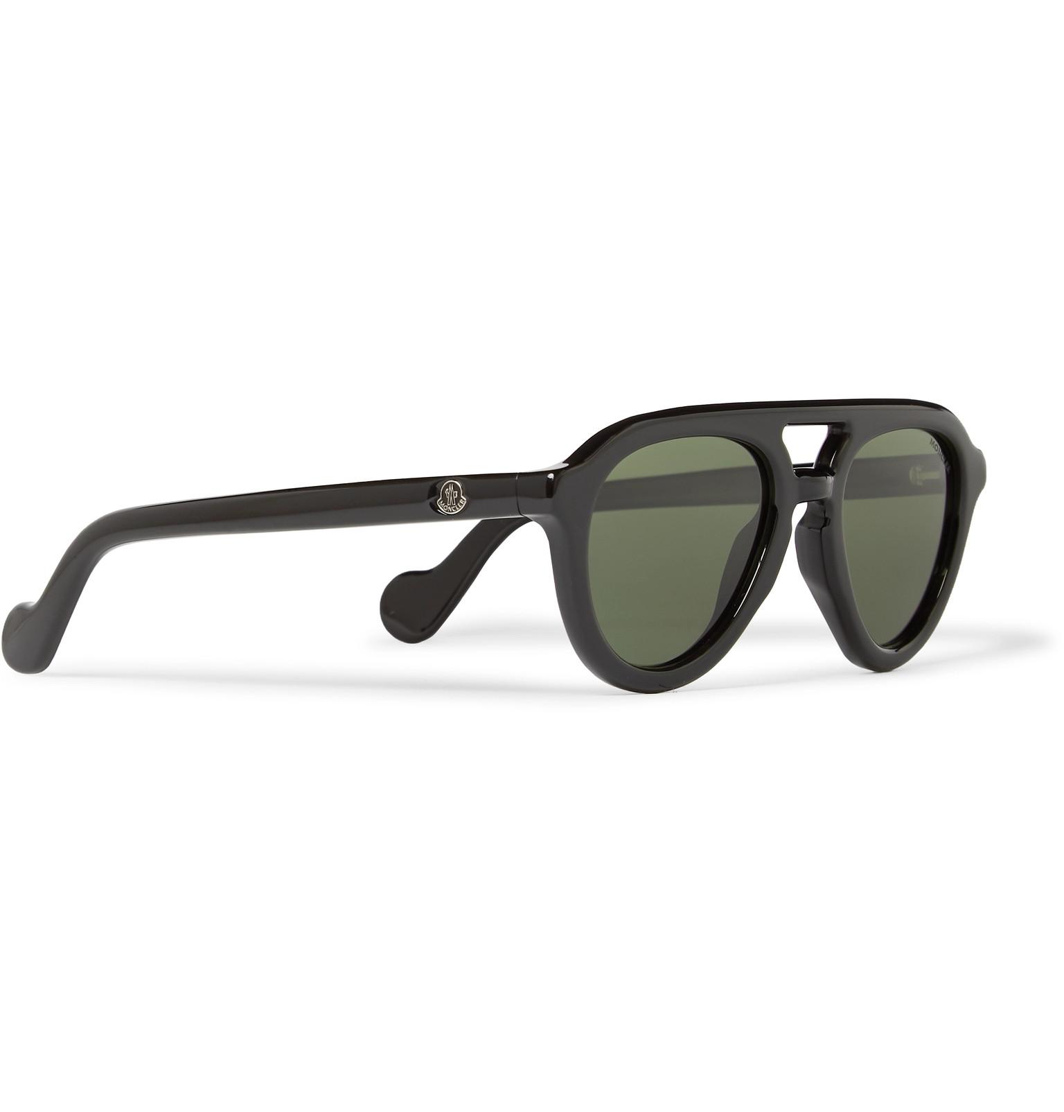 04f0d08d71 Moncler - Aviator-Style Acetate Polarised Sunglasses