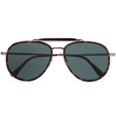 TOM FORD - Tripp Aviator-Style Tortoiseshell Acetate and Silver-Tone Sunglasses