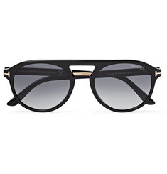 TOM FORD Jacob Aviator-Style Tortoiseshell Acetate Sunglasses