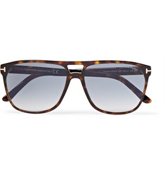 TOM FORD Shelton Square-Frame Tortoiseshell Acetate Sunglasses