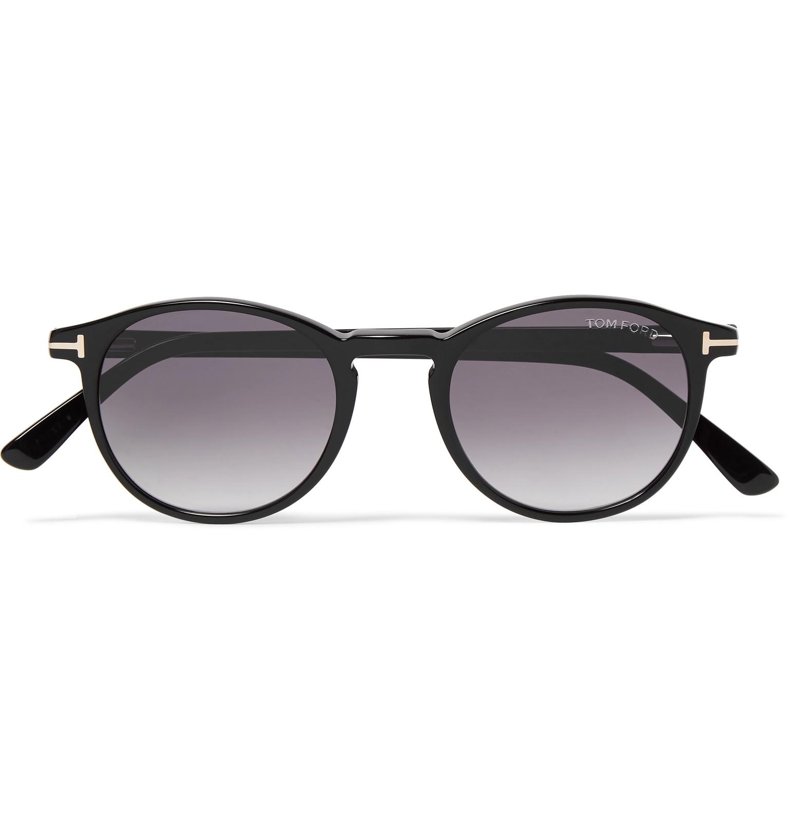 d8f0cec10c0 TOM FORD - Andrea-02 Round-Frame Acetate Sunglasses