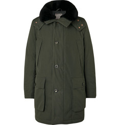 Private White V.C. + Woolmark Shearling-Trimmed Ventile Cotton-Gabardine Hooded Parka