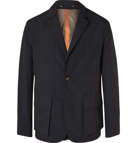 Private White V.C. + Woolmark Midnight-Blue Unstructured Storm System Tech Wool-Blend Blazer