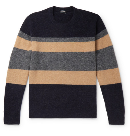 Todd Snyder Colour-Block Knitted Sweater