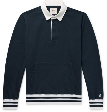 Loopback Cotton Jersey Rugby Shirt by Todd Snyder + Champion