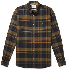 Norse Projects Anton Button-Down Collar Checked Brushed-Cotton Flannel Shirt