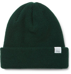 No Designer Ribbed Wool Beanie