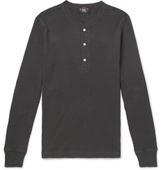 RRL Slim-Fit Textured-Cotton Henley T-Shirt