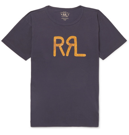 RRL Slim-Fit Logo-Print Cotton-Jersey T-Shirt