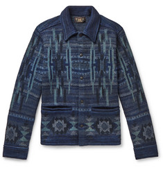 RRL Cotton-Blend Jacquard Cardigan