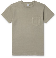 Garment-dyed Cotton-jersey T-shirt - Gray green