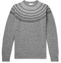 Sunspel Mélange Wool-Jacquard Sweater