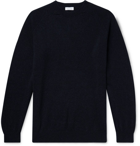 Sunspel Wool Mock-Neck Sweater