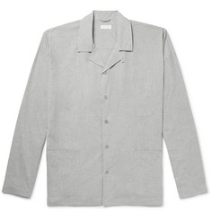 Sunspel Mélange Cotton-Poplin Pyjama Shirt