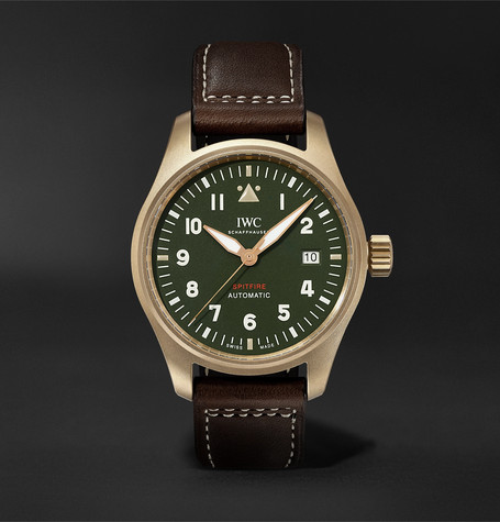 IWC SCHAFFHAUSEN Pilot's Spitfire Automatic 39mm Bronze and Leather Watch
