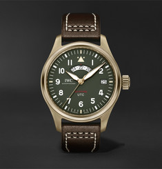 "IWC SCHAFFHAUSEN - Pilot's UTC Spitfire Edition ""MJ271"" Automatic 41mm Bronze and Leather Watch"