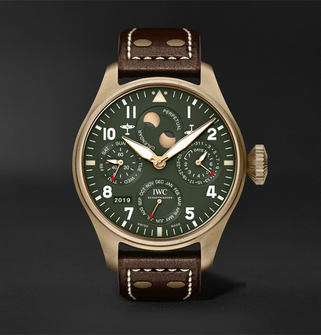 IWC SCHAFFHAUSEN Big Pilot's Perpetual Calendar Spitfire Automatic Chronograph 46.2mm Bronze and Leather Watch