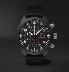 IWC SCHAFFHAUSEN - Pilot's TOP GUN Chronograph 44.5mm Ceramic and Webbing Watch